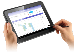 tablette durcie – manager – indicateurs quotidiens & reporting personnalisé
