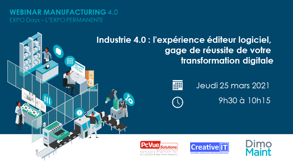 Manufacturing 4.0 et transformation digitale - webinar le 25 mars 2021